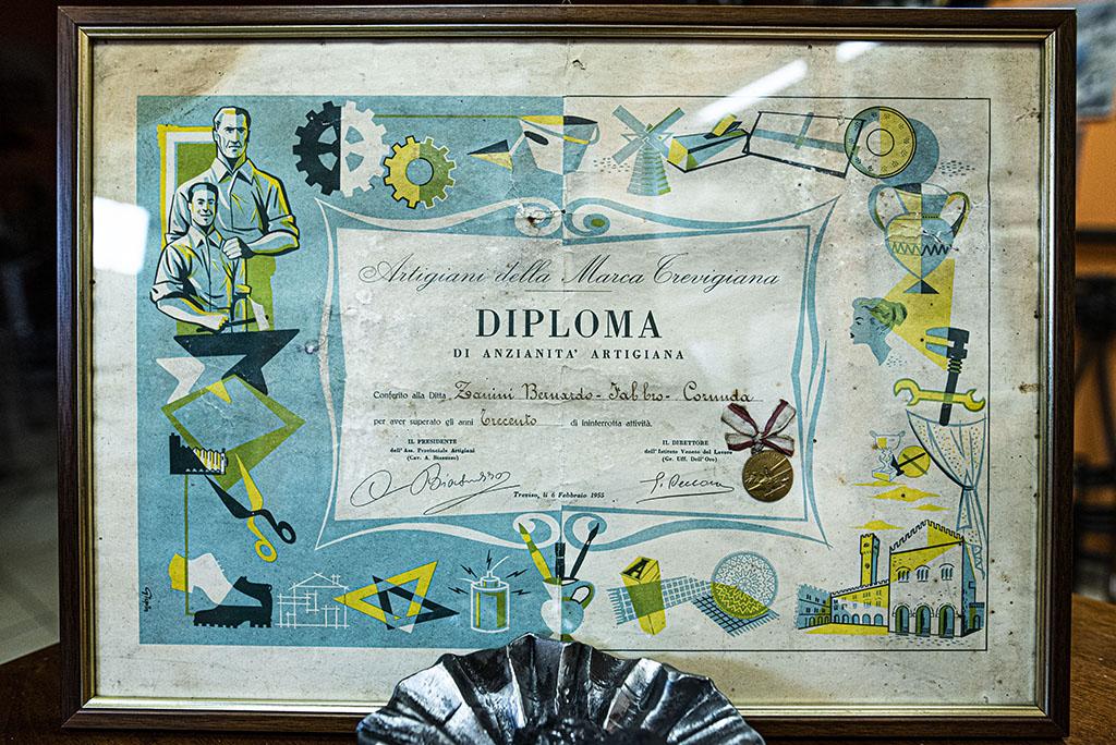 Diploma di anzianità argiana - 1955
